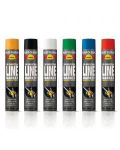 6 x Rustoleum Line Marking Spray Paint 750ml