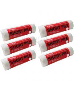 "6 x Short Pile Roller Sleeves 9"""