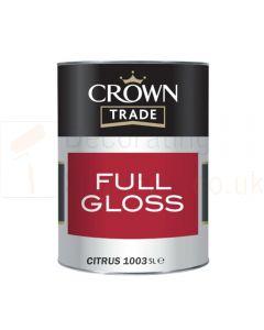 Crown Citrus Yellow Gloss RAL 1003 5 Ltr