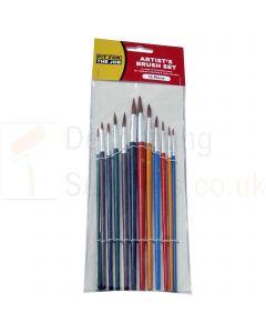 Fit For The Job Artist Paint Brush Set 12 Piece