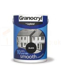 Granocryl Smooth masonry Paint Black 2.5ltr