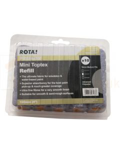 "Mini Toptex Roller Refills 4"" 10 Pack"
