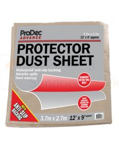 ProDec Plastic Backed Cotton Twill Dust Sheet