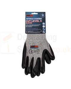 PU Coated Cut Level 5 Gloves Size 10 Extra Large